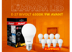 Kit 8 Lâmpadas Led Biv E-27 6500k - 09w - Avant