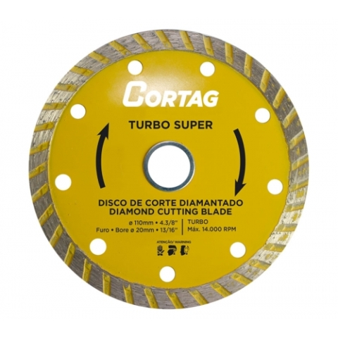 Disco Diamantado Turbo Super - Cortag