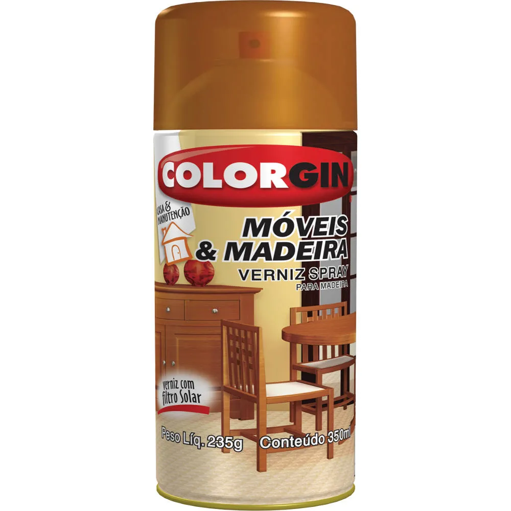 Tinta Spray 350ml Moveis e Madeira Imbuia - Colorgin